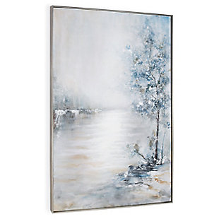 """Blue Meadow Hand Painted 40""""x62"""" Canvas, , large"""