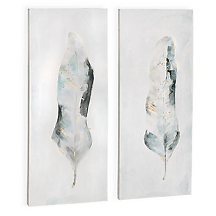 """Plume Hand Painted 22""""x52"""" Canvas (Set of 2), , large"""