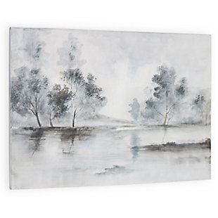 """Trees in the Mist Hand Painted 60""""x40"""" Canvas, , large"""
