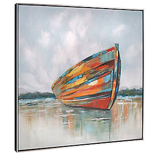 """Calm Seas Hand Painted 41""""x41"""" Canvas, , large"""