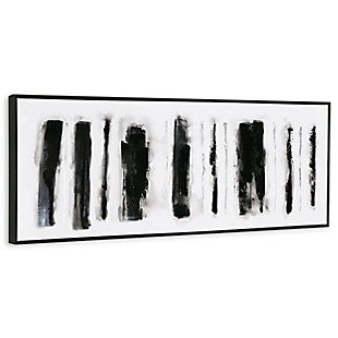 """Striation Hand Painted 60""""x20"""" Canvas, , large"""