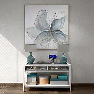 "Flor Azul Hand Painted 40""x40"" Canvas, , rollover"
