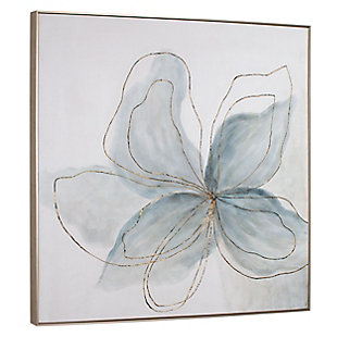 """Flor Azul Hand Painted 40""""x40"""" Canvas, , large"""