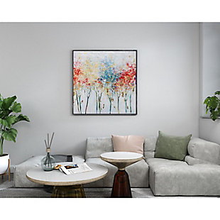 """Autumn Trees Hand Painted 40""""x40"""" Canvas, , rollover"""