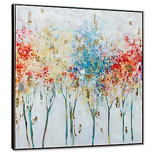 """Autumn Trees Hand Painted 40""""x40"""" Canvas, , large"""