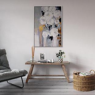 "Blanc Fleur Hand Painted 33""x49"" Canvas, , rollover"