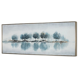 """Blue Woods Hand Painted 73""""x31"""" Canvas, , large"""