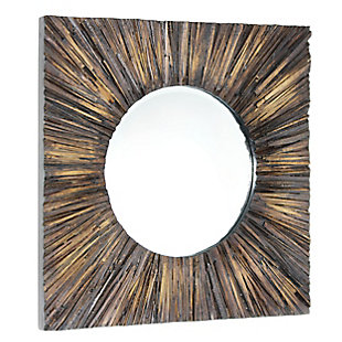 "Joslyn Wood 30""x30"" Wall Mirror, , large"