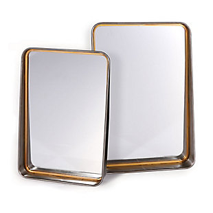Orion Set of 2 Metal Wall Mirror, , large