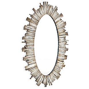 "Diya Oval Wood 50""x30"" Wall Mirror, , large"