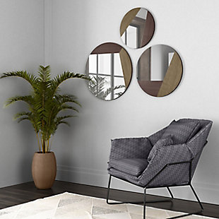 Alexander Metal Mirrors (Set of 3), , rollover