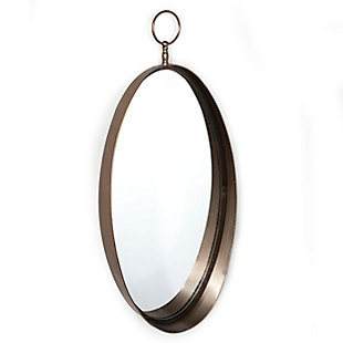 "Macklin Metal Oval 17""x38"" Wall Mirror, , large"