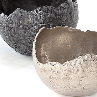 Terra Decorative Metal Bowls (Set of 2), , rollover