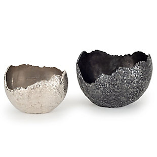 Terra Decorative Metal Bowls (Set of 2), , large
