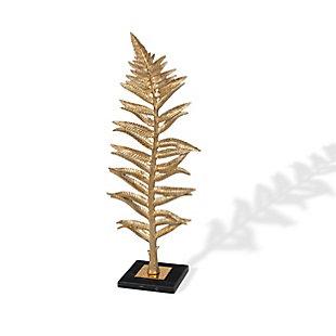 Gilded Fern I Decorative Feather, , large