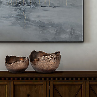 Terra Copper Bowls (Set of 2), , rollover