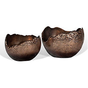 Terra Copper Bowls (Set of 2), , large