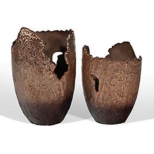 Terra Small Copper Vase, , rollover