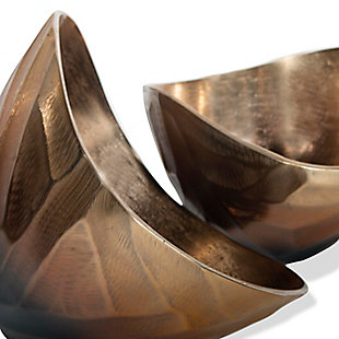 Arlette Metal Bowls (Set of 2), , rollover