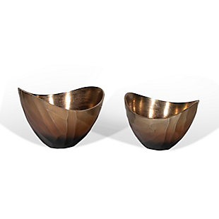 Arlette Metal Bowls (Set of 2), , large