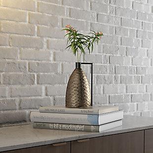Rafiq Decorative Metal Vase, , rollover