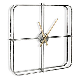 Lincoln Metal Wall Clock, , large