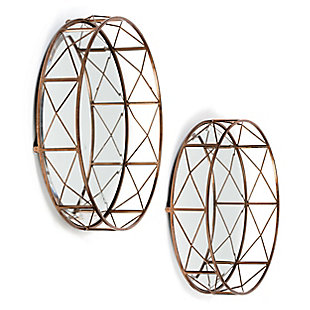Akina Mirrored Trays (Set of 2), , rollover