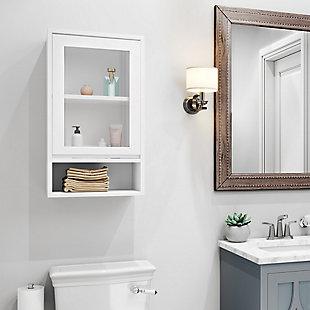 Simpli Home Draper Single Door Wall Bath Cabinet, , rollover