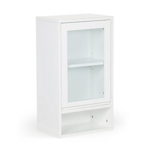 Simpli Home Draper Single Door Wall Bath Cabinet, , large