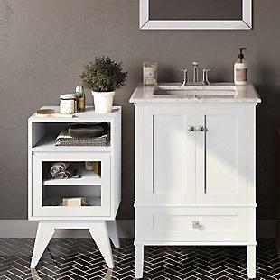 Simpli Home Draper Floor Storage Bath Cabinet, , rollover
