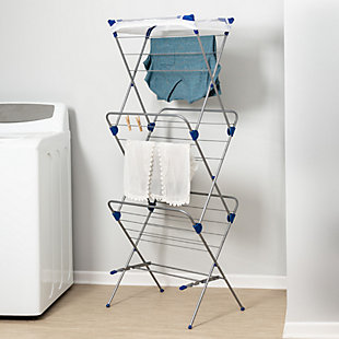 Honey-Can-Do 3 Tier Mesh Top Drying Rack, , large