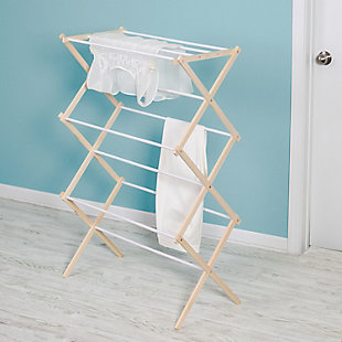 Honey-Can-Do Wooden Laundry Drying Rack, , rollover