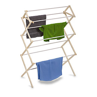 Honey-Can-Do Heavy Duty Wood Drying Rack, , rollover