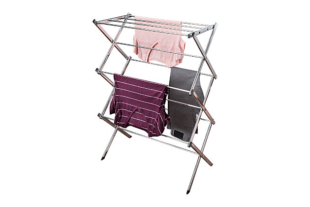 Honey-Can-Do Commercial Accordion Drying Rack, , large
