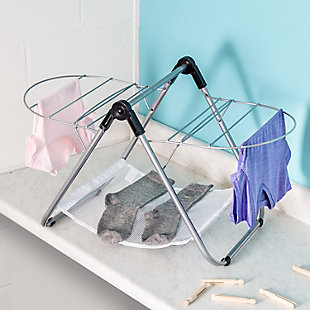 Honey-Can-Do Collapsible Tabletop Clothes Drying Rack, , rollover