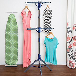 Honey-Can-Do 2-Tier Tripod Drying Rack, , rollover