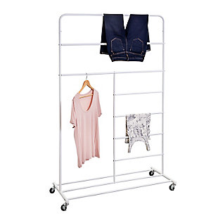 Honey-Can-Do Rolling Multi-Section T-Bar Clothes Drying Rack, , large