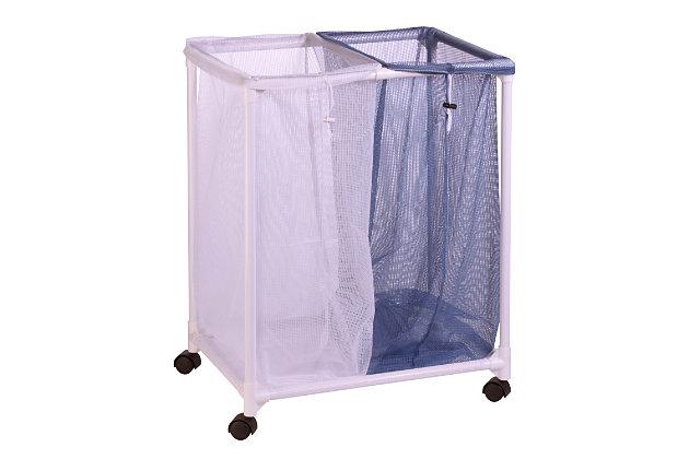 Honey-Can-Do 2 Bag Mesh Laundry Sorter, , large