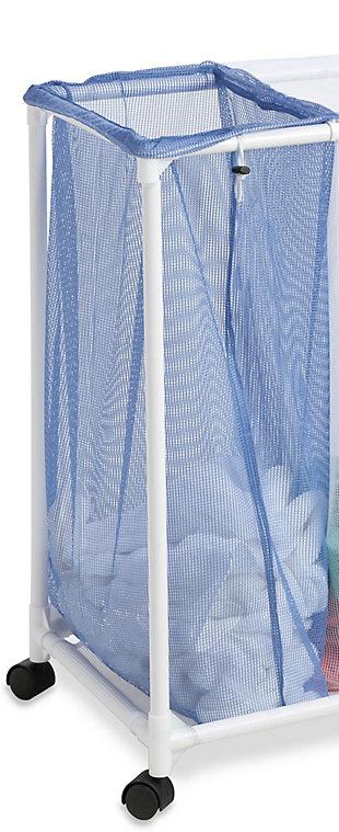 Honey-Can-Do 3 Bin Mesh Laundry Sorter, , large