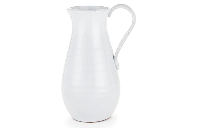 White Home Accents Pitcher by Ashley HomeStore