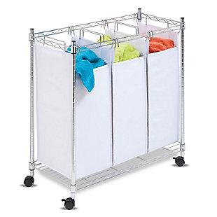 Honey-Can-Do Urban Triple Laundry Sorter, , rollover