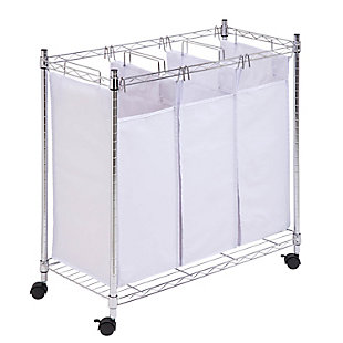 Honey-Can-Do Urban Triple Laundry Sorter, , large