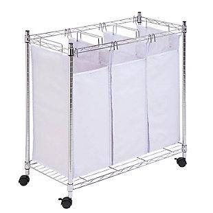 Honey-Can-Do Urban Triple Laundry Sorter, , large