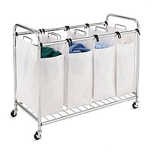 Honey-Can-Do Quad Laundry Sorter, , large