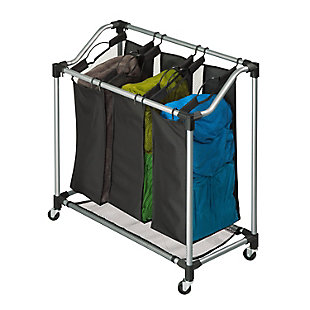 Honey-Can-Do Elite Triple Laundry Sorter, , large