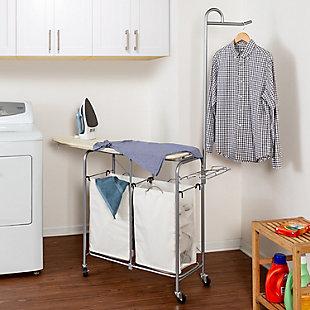 Honey-Can-Do Foldable Laundry Valet Center, , rollover