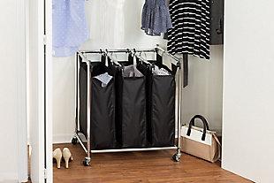 Honey-Can-Do Easy Load Triple Laundry Sorter, , rollover