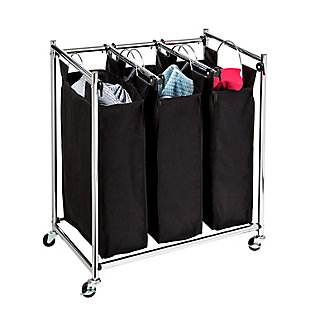 Honey-Can-Do Easy Load Triple Laundry Sorter, , large