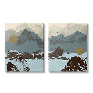 Mountain Range Textures 2-Piece Canvas Wall Art 24x30, , large