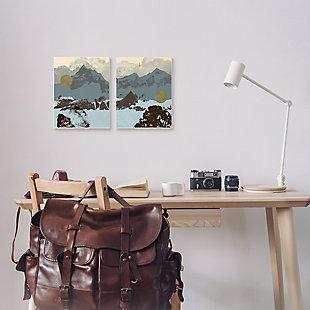 Mountain Range Textures 2-Piece Canvas Wall Art 10x15, , rollover